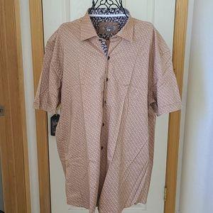 Short Sleeve Dress Shirt by Celino- NWT, xl to xxx